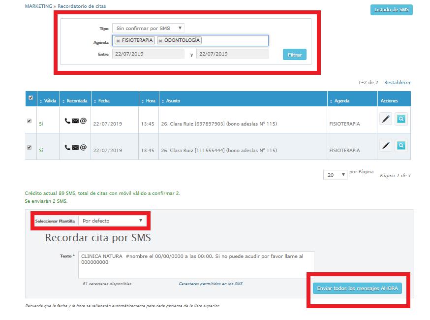 Enviar Recordatorios De Citas Por Sms O E Mail Clinic Cloud